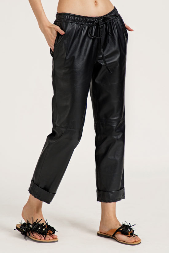 1 Leather Low Slung Trousers TP0001