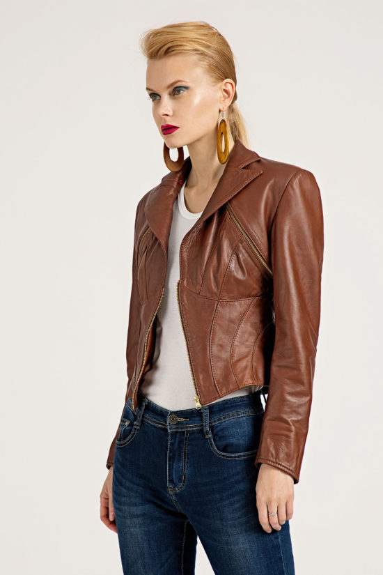 1 Leather Polymorphic 3-Piece Jacket J0002