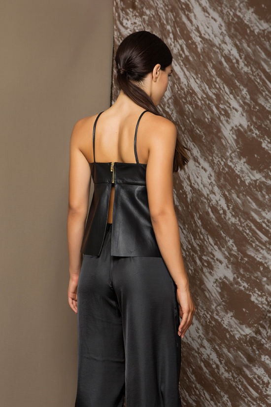 2 Leather A-Line Camisole Top TV0003