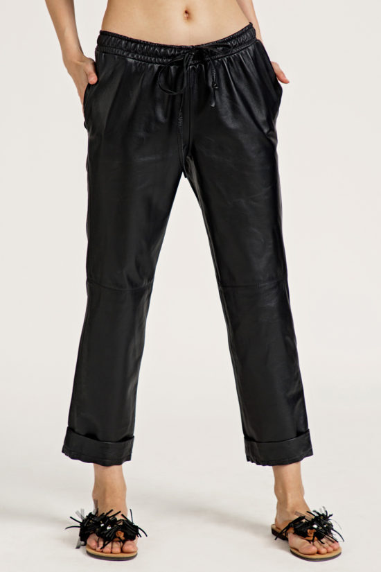 2 Leather Low Slung Trousers TP0001