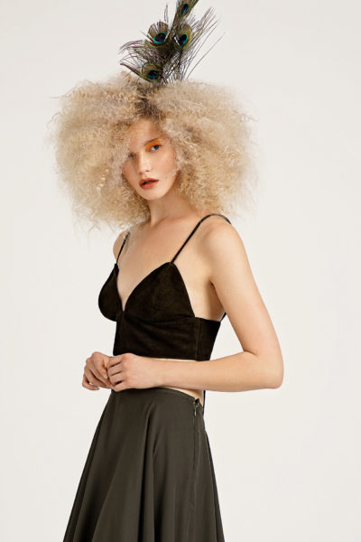 2 Suede Cropped Bralette Top TV0024