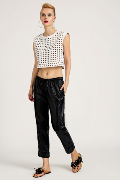 3 Leather Box-Fit Cut-Out Top TV0016