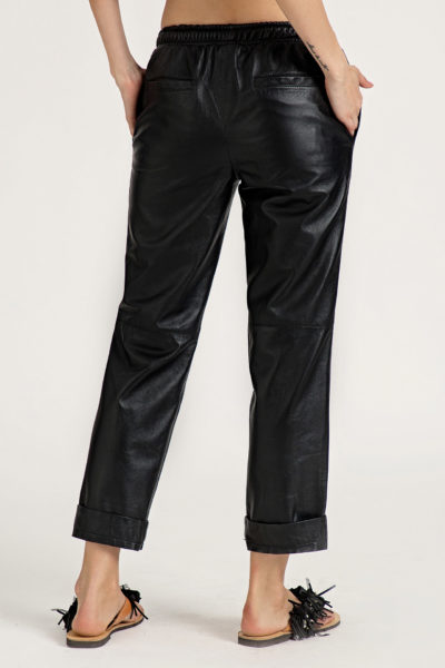3 Leather Low Slung Trousers TP0001