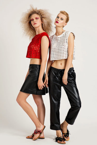4 Leather Box-Fit Cut-Out Top TV0016